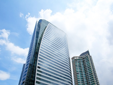 Office buildings in business center 版權商用圖片