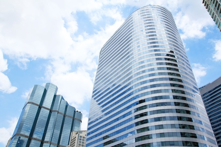 Office buildings in business center Stock Photo