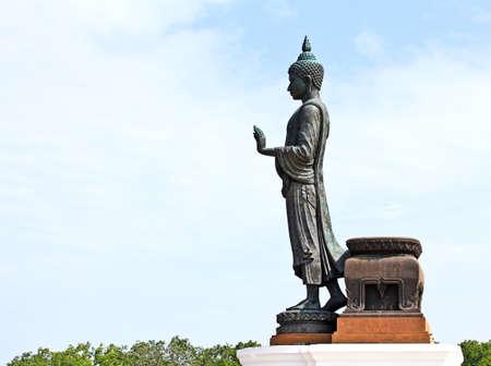 Marcher image de Bouddha, Tha?lande