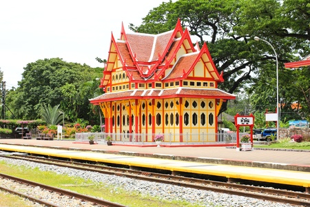 Royal pavilion at hua hin railway station, Prachuap Khiri Khan, Thailand Stock Photo - 21794529