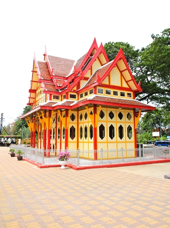 Royal pavilion at hua hin railway station, Prachuap Khiri Khan, Thailand