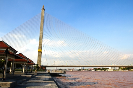 The Rama VIII bridge over the Chao Praya river in Bangkok, Thailand photo
