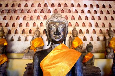 Buddha Image at Wat Si Saket in Vientiane, Laos. photo