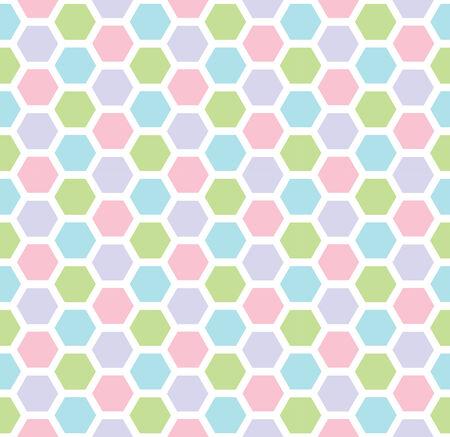 Multicolored hexagon geometric seamless background. Illustration