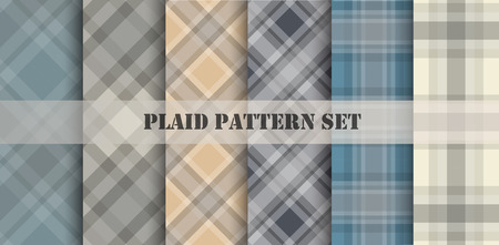 Plaid Patterns. Vector set. Vector