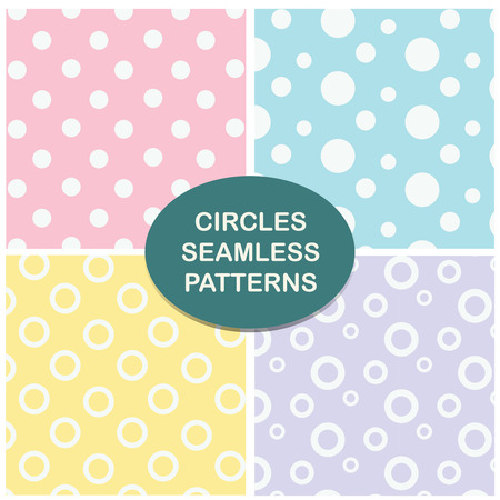background tile: Circles seamless pattern. Vector set.