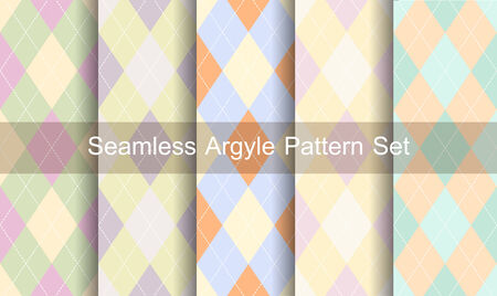 Seamless argyle pattern. Diamond shapes background.  Vector