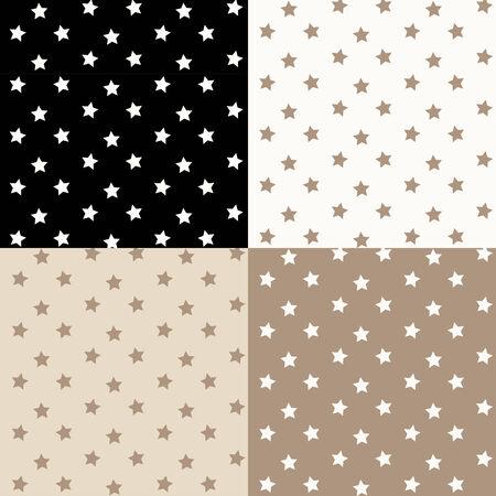 �toiles seamless pattern. Vector set.