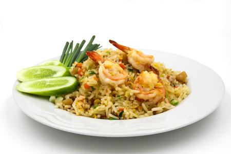 Fried rice with shrimp ,Thai cuisine.
