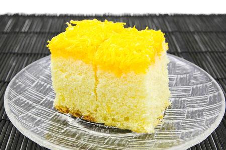 Or jaune d'oeuf g�teau de fil. Tha�lande dessert.