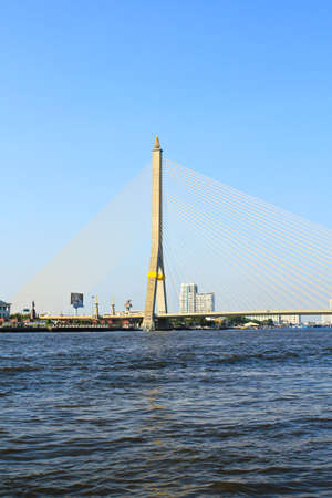 rama: The Rama VIII bridge over the Chao Praya river in Bangkok, Thailand.