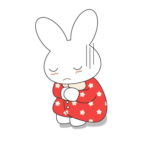 pink dress: Cute cartoon bunny girl in a pretty pink dress. Vector illustration.