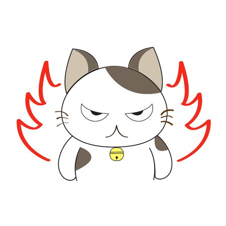 angry animal: Cute cat character Illustration