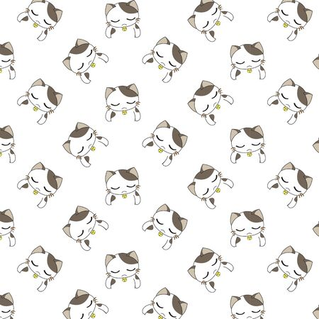 funny baby: Cute Cartoon Cats Pattern. Illustration
