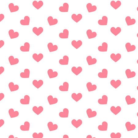 Romantic pattern with hearts. Vector illustration. Background