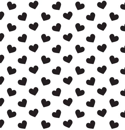 white heart: Romantic pattern with hearts. Vector illustration. Background