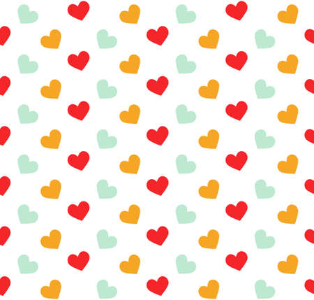 white party: Romantic pattern with hearts. Vector illustration. Background