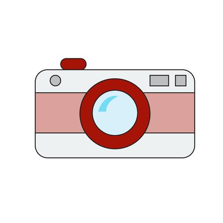 vector of retro camera on white background Illustration