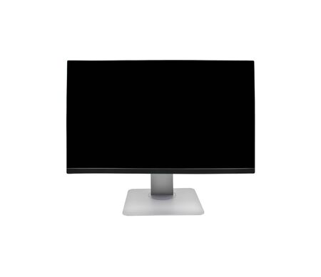 computer monitor: Computer monitor isolated on white background