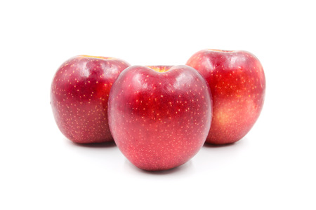 Red Apple isolated on white background. Banque d'images