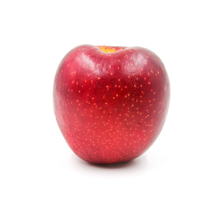 Red Apple isolated on white background. Stock Photo