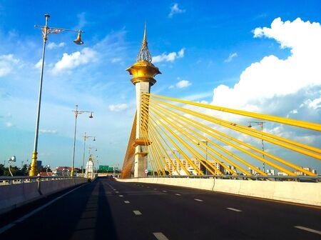 nonthaburi: Nonthaburi 1 bridge , Nonthaburi, Thailand