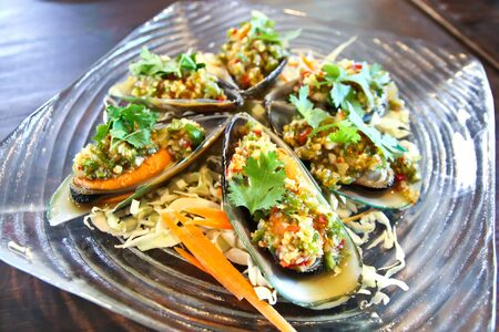 mussel: Spicy mussel