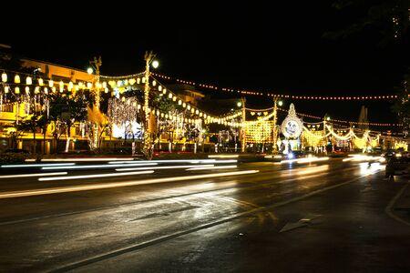 BANGKOK - DECEMBER 7: Decoration on Rachadamnoen road for the celebration of the 88th birthday of HM King Bhumibol Adulyadej on December 7, 2015 in Bangkok, Thailand.