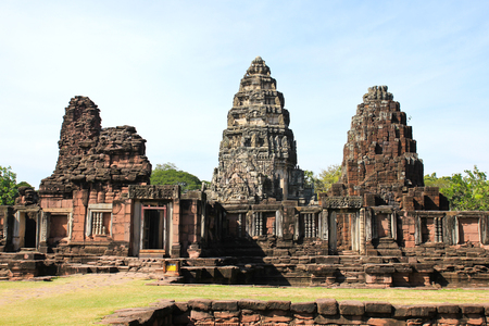 realm: View of the historic Prasat Hin Phimai Castle at Nakhon Ratchasima Province, Thailand. The Khmer Castle were built during the Angkor period and marked the northern reaches of the realm.