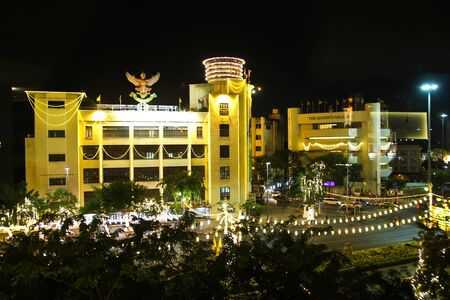 adulyadej: BANGKOK - DECEMBER 18: Decoration on Rachadamnoen road for the celebration of the 88th birthday of HM King Bhumibol Adulyadej on December 18, 2015 in Bangkok, Thailand. Editorial