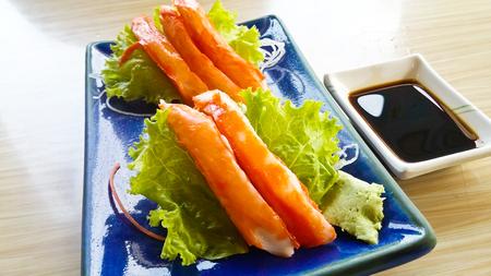 Crab stick japanese food Stock Photo