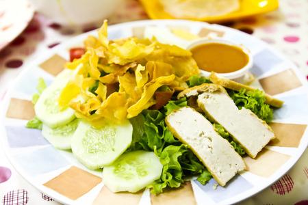 gado: Indonesian vegetarian food Gado Gado Stock Photo