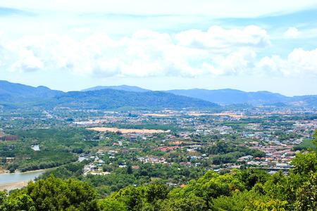 phuket: Viewpoint of Phuket city, Phuket province Thailand.