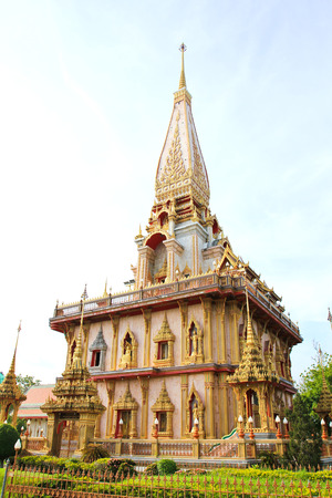 chalong: Pagoda in Wat Chalong or Chaitharam Temple, Phuket, Thailand.
