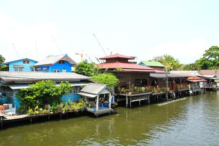 residential market: Riverside residential in Thailand Stock Photo