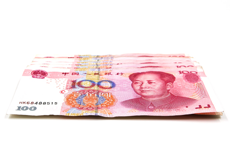 yuan: Chinese yuan money 100 banknotes Stock Photo
