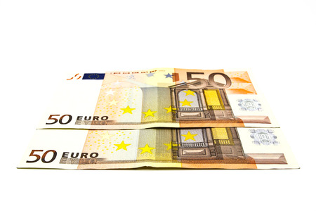 fifty euro banknote: Fifty euro banknote on a white background.