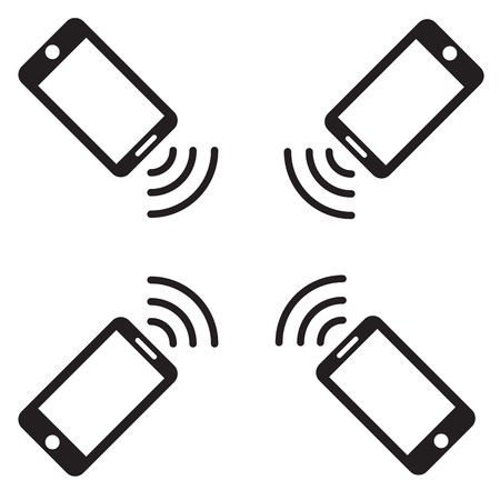 phone icon: phone wifi icon vector