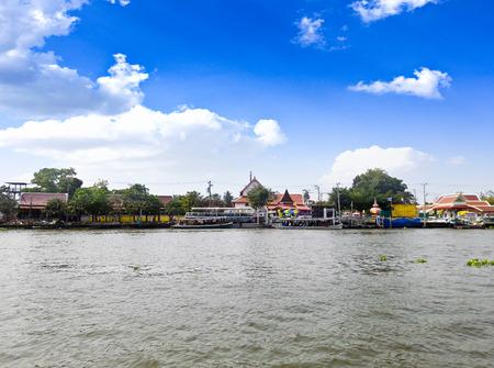 Scenic view of the Chao Praya River in Bangkok,Thailand. Stock Photo
