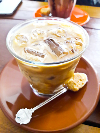 Iced coffee with Biscuit