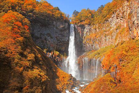 Kegon Falls in Autumn Season ,Nikko ,Japan. 版權商用圖片