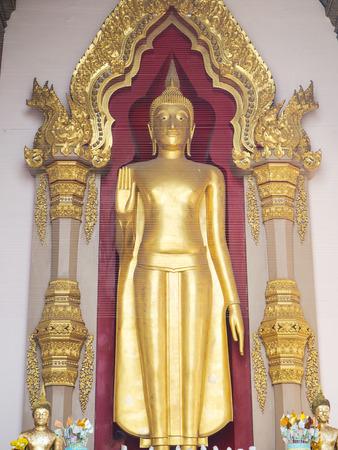 Big Buddha in Phra Pathom Chedi Temple , Nakhon Pathom, Thailand.