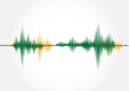 Sound wave, vector illustration.
