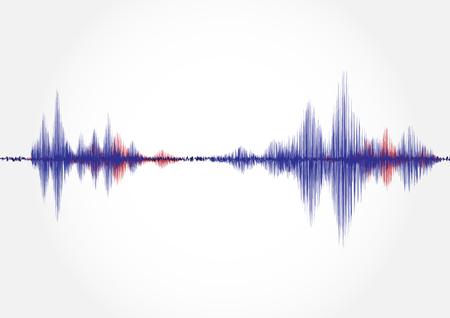 Sound wave, vector illustration.