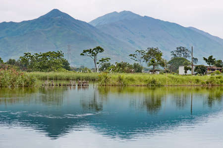 mountainscape: Mountainscape With Refection In Hong Kong