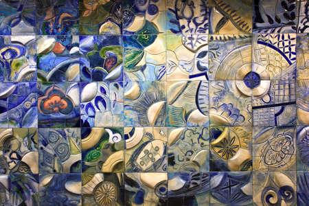 arte moderno: artista de fondo como de estilo chino en la pared