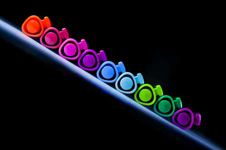 colorful pen background Stock Photo