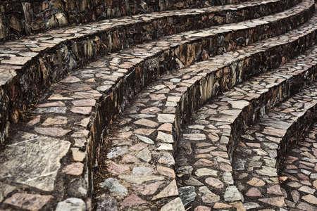 Curve brick walkway  as background photo