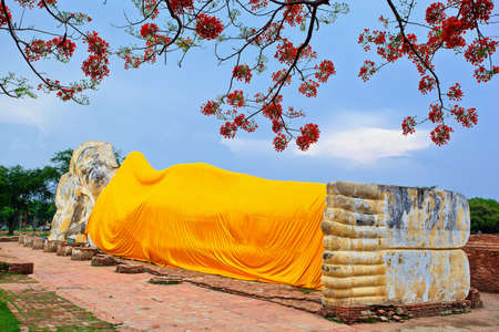 Reclining Buddha and blue sky  Stock Photo - 13677593