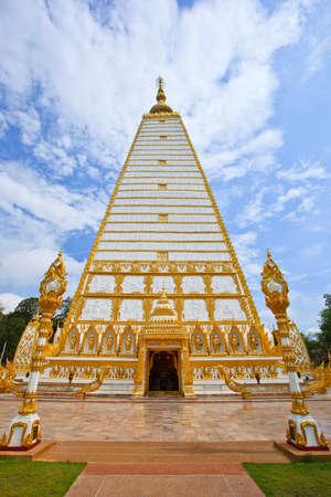 Thai temple in Karnchanaburi in Thailand photo